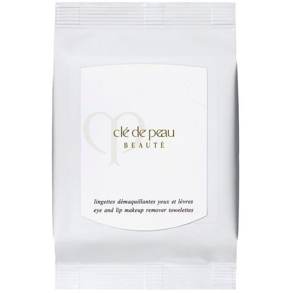 Clé de Peau Beauté Eye & Lip Makeup Remover Towelettes (130 BRL) ❤ liked on Polyvore featuring beauty products, skincare, beauty, cleansers & toners, red, toner skin care, face toner and argan oil skin care