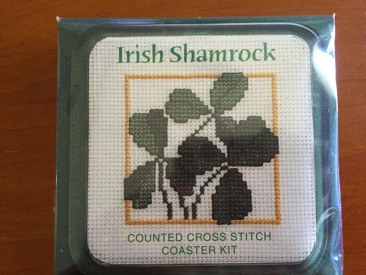 Spread the Luck of the Irish with this Shamrock Counted Cross Stitch Coaster Kit by Textile Heritage COIS #irish #crossstitch #shamrock #crafts #artsandcrafts #diy #handmade #homemade #craftycornersau