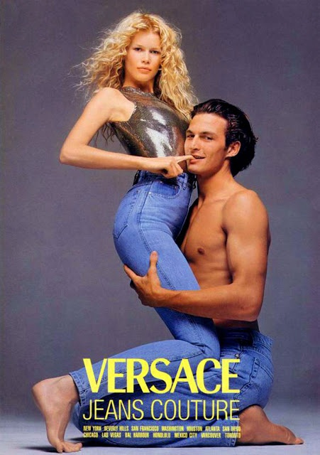 Claudia & Stan Nelson  Gianni Versace Ad  1994  by Avedon