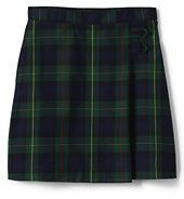 classic Juniors Plaid A-line Skirt Below the Knee-Classic Navy/Evergreen Plaid