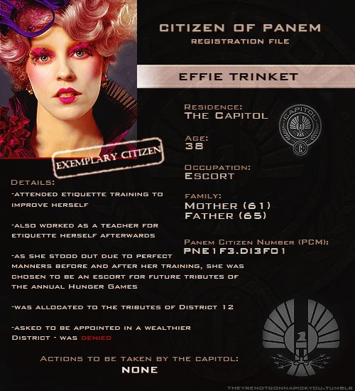 Capitol Files - Effie Trinket