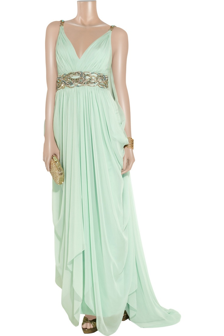 The dress goddess - Mint Greek Goddess Dress This Is The Front Of The Other View Marchesa Out