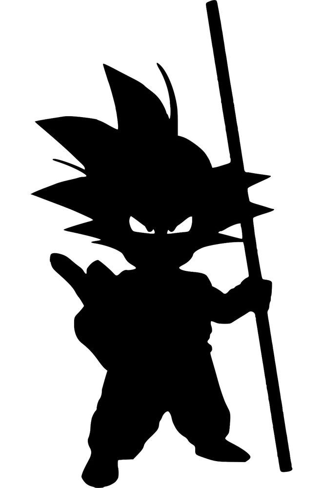 Details About Kid Goku Silhouette Dragon Ball Z DBZ Decal