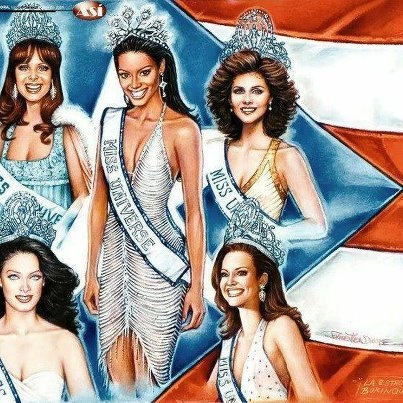 Nuestras Miss Universe PR!!  Our five Miss Universe from Puerto Rico