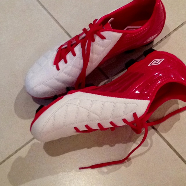 My new Umbro football boots. Trying them out for the first time today