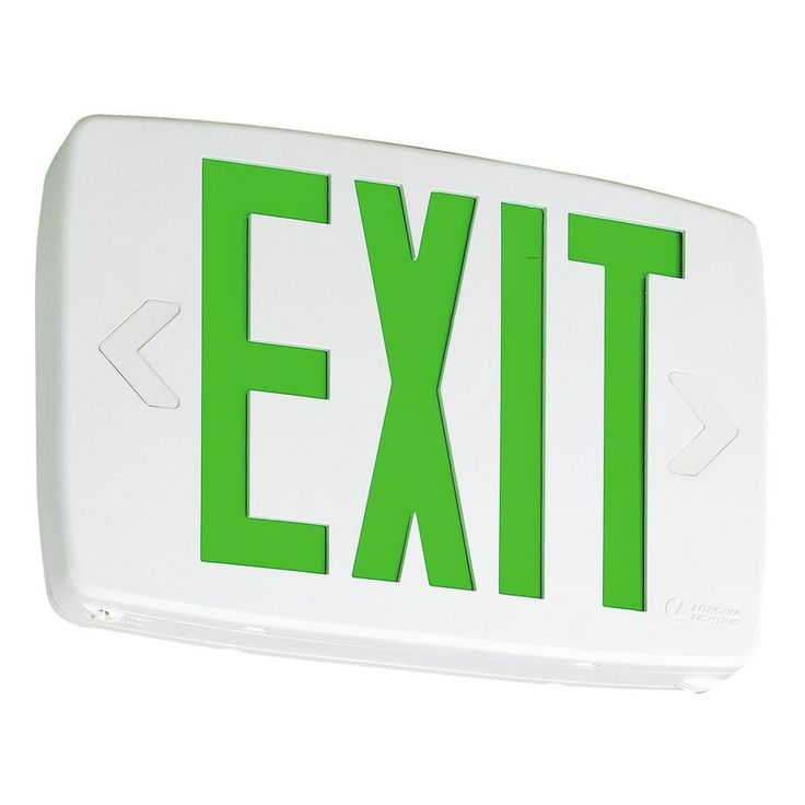Lithonia Lighting Thermo LED Emergency Exit Sign with and White Letters and Nickel Cadium Battery
