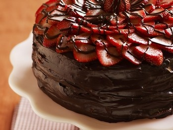 The Voluptuous Chocolate-Covered Strawberry Ganache Cake by Dede ...