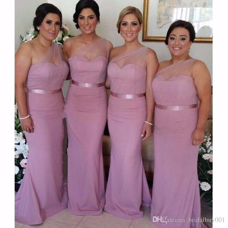 Lilac Bridesmaid Dresses 2017 Tulle One Shoulder Sash Mermaid Wedding Party Gowns Chiffon Long Simple Cheap Bridesmaids Dress For Girls Pale Yellow Bridesmaid Dresses Periwinkle Bridesmaid Dresses From Bridalbuy001, $59.36| Dhgate.Com