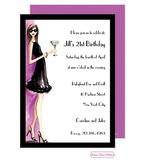 21st Birthday Party Invitations Winter 2015