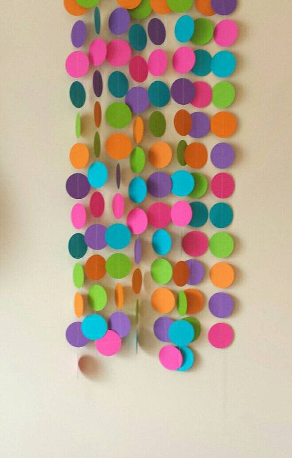 Check out this item in my Etsy shop https://www.etsy.com/ca/listing/267386740/paper-party-garland-birthday-decor-party