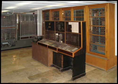 Designed by the legendary German engineer Konrad Zuse, the Z4 computer was a follow-up to its pioneering predecessor, the Z3 computer he built in 1941 (the world's first programmable, automatic computing machine). The Z4 used about 4,000 watts of power and ran at approximately 40 Hz. It had 64 32-bit registers, the equivalent of 512 byte of memory. One addition took 0.4 seconds.