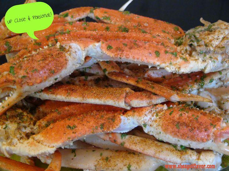 Lick Your Fingers Beer, Butter & Garlic Crab Legs | She's Got Flavor