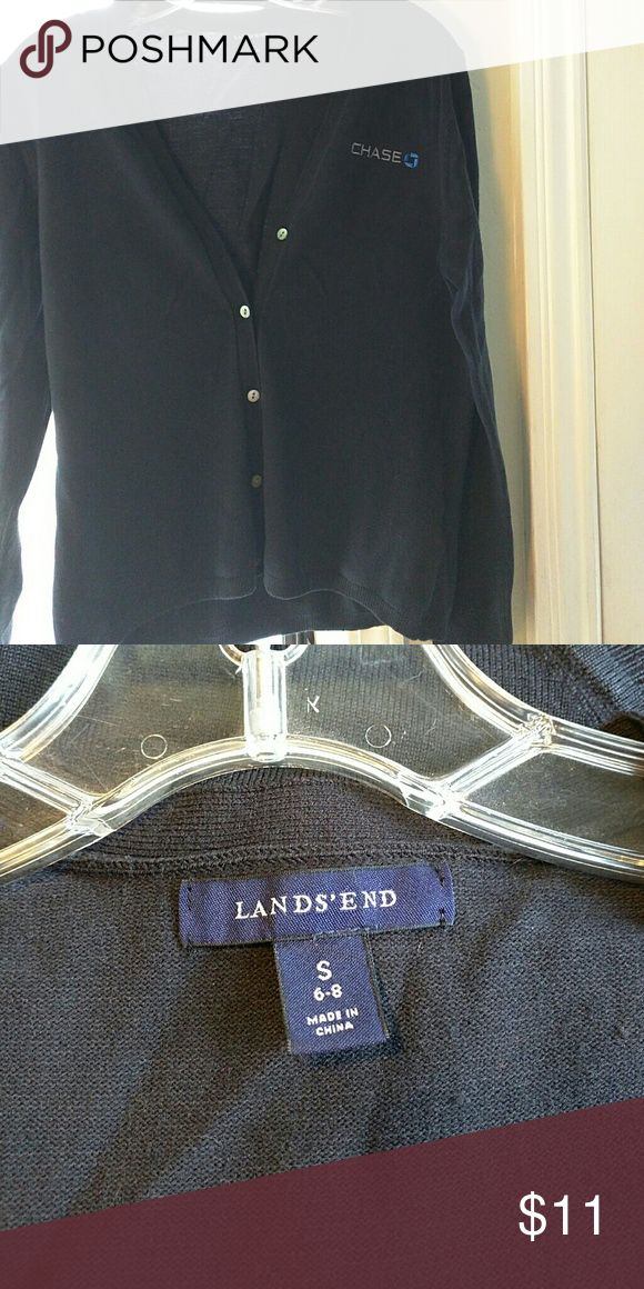 """Chase Bank sweater Good condition button down  18 """" across 21"""" long Lands' End Sweaters Cardigans"""