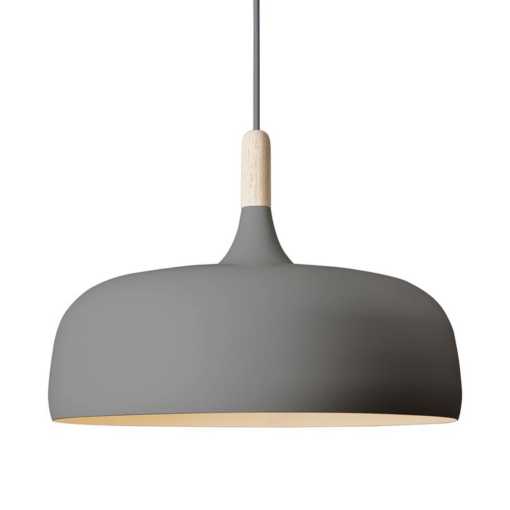 Invert the cupule of an acorn, treat it with a serene finish reminiscent of Scandinavia's iconic birch tree, top it off with a smooth dash of modernism, and you have the Acorn Pendant Light in the Str