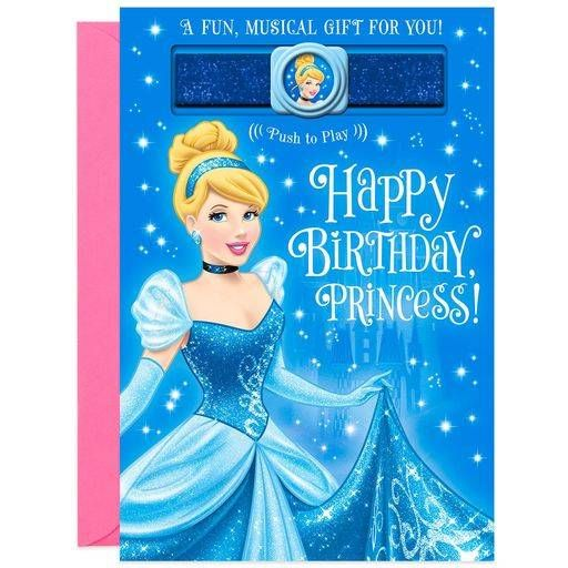 Disney Princess Dreams Come True Musical Birthday Card,