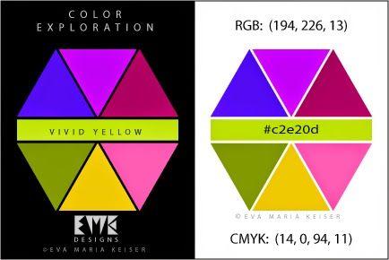 "Eva Maria Keiser Designs: Explore Color:  ""Vivid Yellow"""