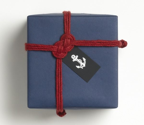 The P.S. blog shows us how to make this maritime knot rope accent for gift wrapping. With summer just around the corner, I'd gladly welcome this addition on any gifts for my July birthday (hint, hint!).