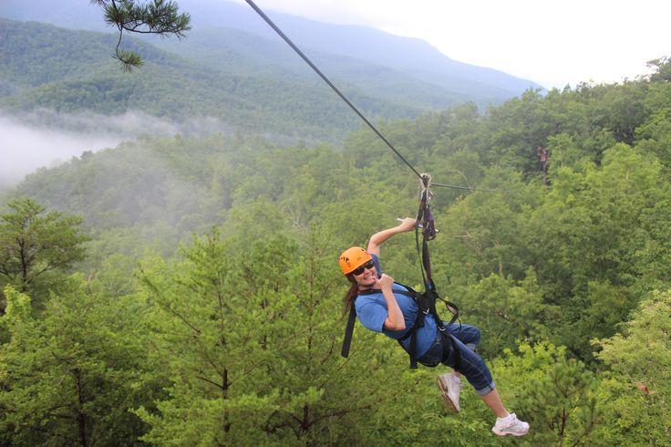 ziplining in the Smoky Mountains..breathtaking views ...