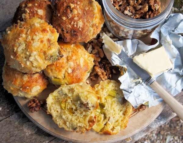 Wensleydale Cheese, Leek & Walnut Scones from @Karen S Booth