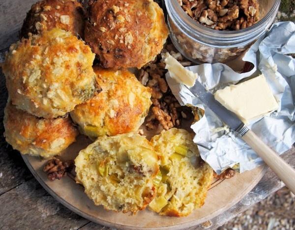 Wensleydale Cheese, Leek & Walnut Scones from @Karen S Booth
