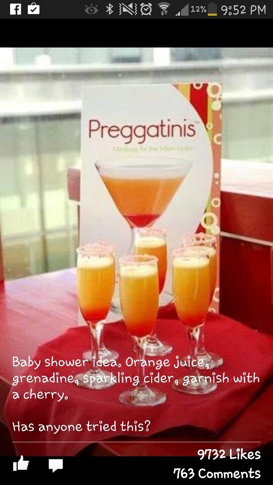 Pregnatinis for a baby shower!