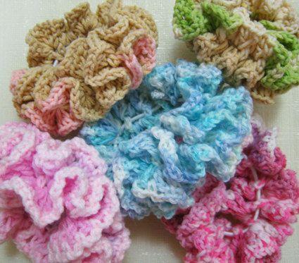 Free Crochet Patterns Scrunchies   Double Ruffle Crochet Scrunchie Pattern by mycraftyideas on Etsy