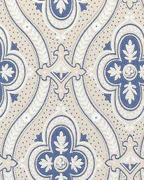 Tapet Pigkammaren beige/vit/blå från Boråstapeter