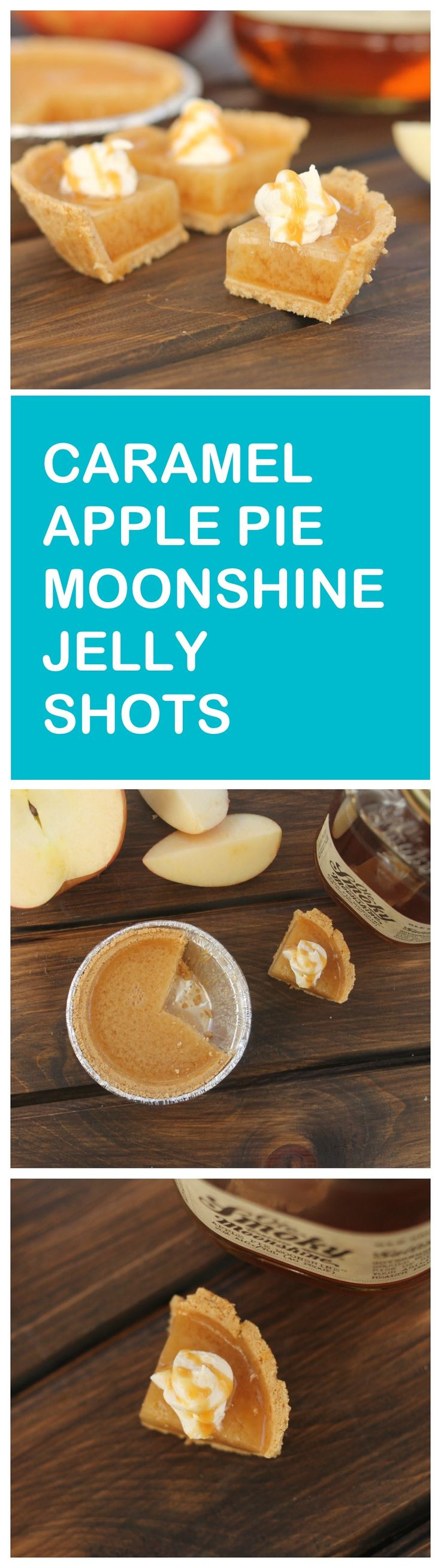 Your favorite fall flavors in one boozy bite!  Caramel apple pie in drink form!
