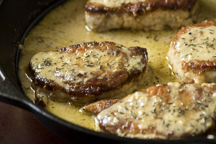 Report Advertisement  				 		 			Creamy Lemon Thyme Pork Chops 		  		  	Decatur Macpherson  		  			 When it comes to family dinners, we find ourselves all too frequently reaching for chicken, inadvertently subjecting ourselves and our family to dishes we've had many, many times before. Not wanting to fall into a chicken rut, we found ourselves eyeing some delicious looking pork chops the other day and knew they would make the perfect skillet dinner that everyone would enjoy…and we were…