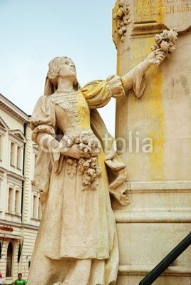 Particular of the statue of Kossuth Lajos, Szeged, Hungary