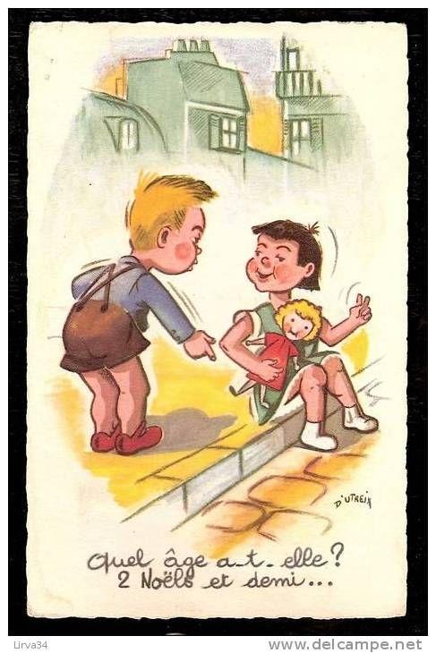 d'utreix enfants illustrateurs - Delcampe.fr