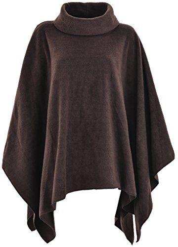 9fb081d8e1e0bf KK Fashion Lines Ladies Womens Fleece Poncho Capes Polo Neck Anti Pill  Fleece Cosy Winter Warm
