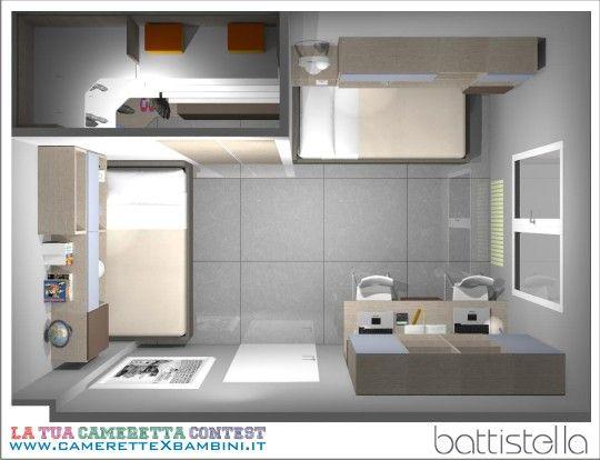 Pi di 25 fantastiche idee su camere per ragazzi su - Progettare cameretta online ...