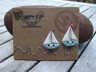 Knopen-Zeilbootjes, Ceramic Sailboat buttons