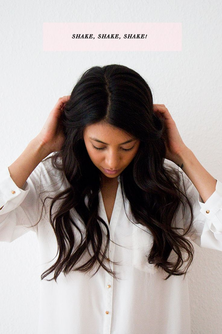 how to get messy loose waves