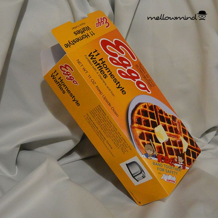 Eleven's favourite! Keep Upside-Down.  This is a DIY Stranger Things series inspired Eggo box - print, cut, glue yourself!