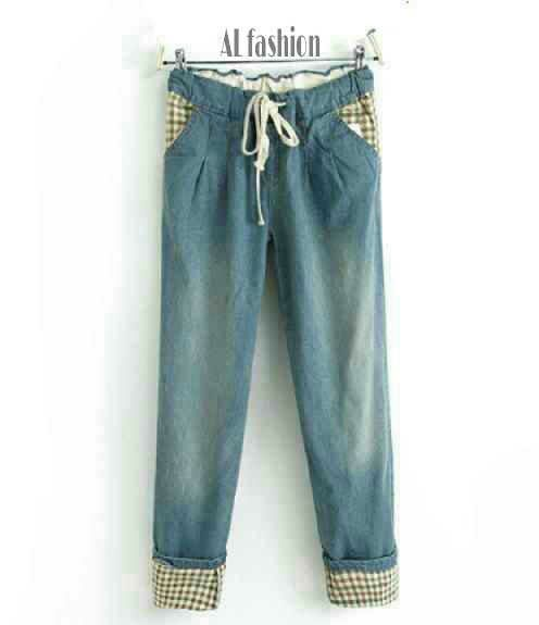 New Yasmin Pants Jeans Rp.90rb min2 Rp.85rb Jean Wash ORI(Good Quality)Pingng Full Karet Srutan Tali,fit L bsr