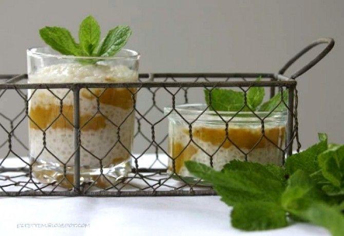 Tápiókapuding mangó coulis-val recept képpel. Hozzávalók és az elkészítés részletes leírása. A tápiókapuding mangó coulis-val elkészítési ideje: 15 perc