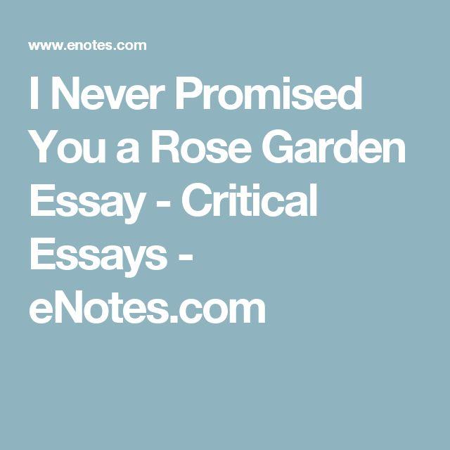 best critical essay ideas claim evidence i never promised you a rose garden essay critical essays enotes com