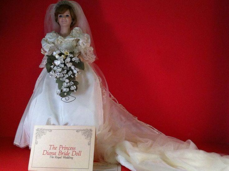 "PRINCESS DIANA BRIDE DOLL DANBURY MINT ROYAL WEDDING 19"" PORCELAIN BOUQUET DRESS | Dolls & Bears, Dolls, By Brand, Company, Character | eBay!"