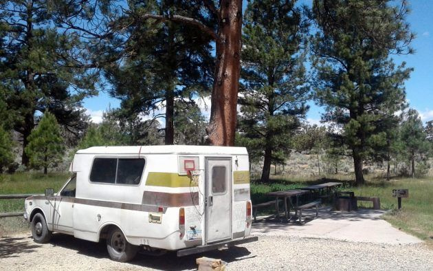 BF AUCTION: 1974 Toyota Chinook RV #Auctions #Campers, #Toyota - http://barnfinds.com/bf-auction-1974-toyota-chinook-rv/
