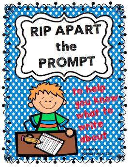 FREEBIE practice on deconstructing a Writing Prompt for grades 3,4 & 5