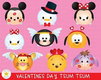 Tsum Tsum Clipart Valentine S Day Clipart Tsum Tsum Graphic