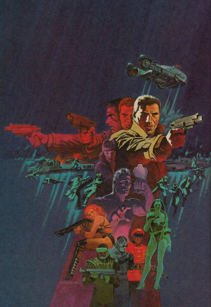 Blade Runner by Jim Steranko  actual book:  Do Androids Dream of Electric Sheep? by Philip K. Dick