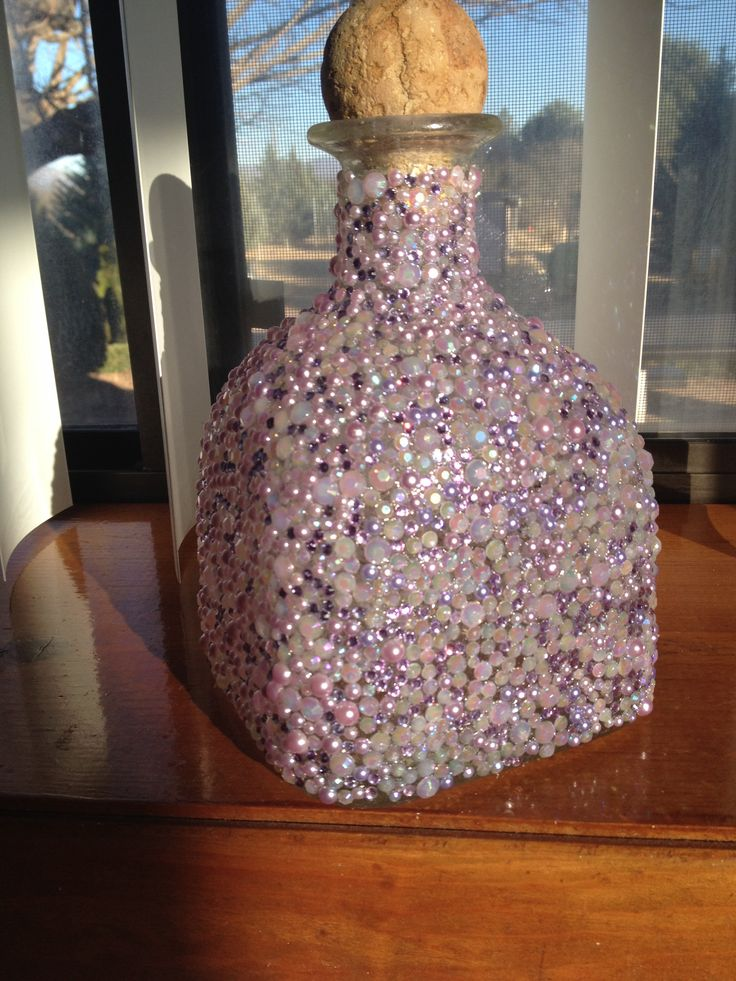 Bedazzled patron bottle