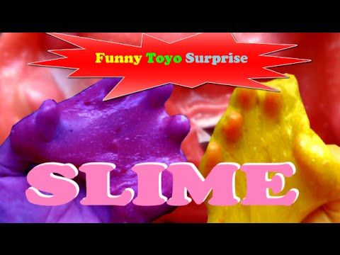 How to Make SLIME Easy Surprise Toys Rainbow Colors Fun Video for Kids Funny Toyo Surprise - YouTube