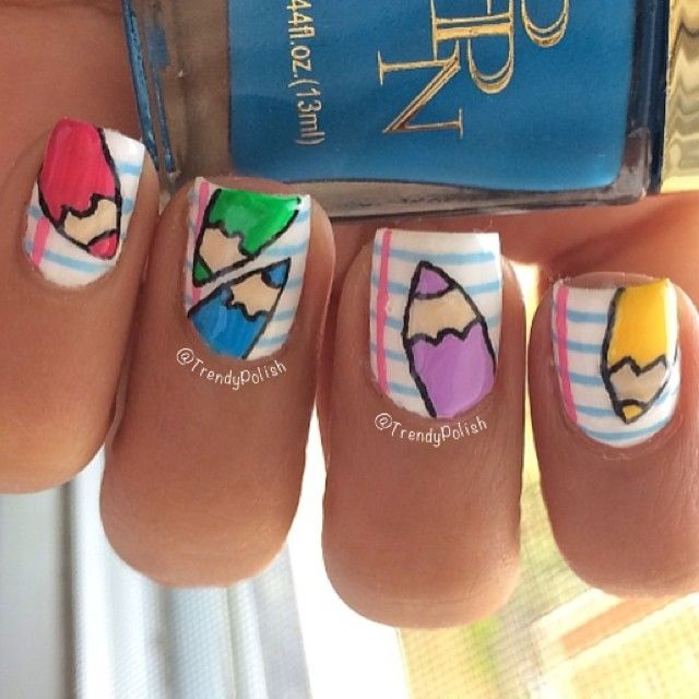 Best 25 pencil nails ideas on pinterest amazing nails cool instagram media by trendypolish nail nails nailart prinsesfo Gallery