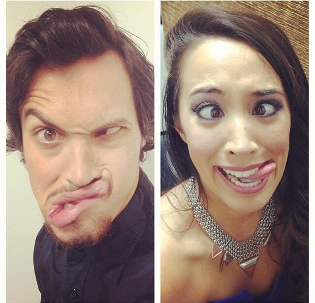 Alex and Sierra - derp faces!