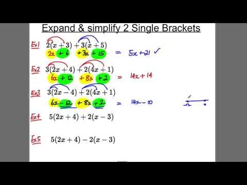 GCSE Revision Video 4 - Expanding 2 single brackets - YouTube