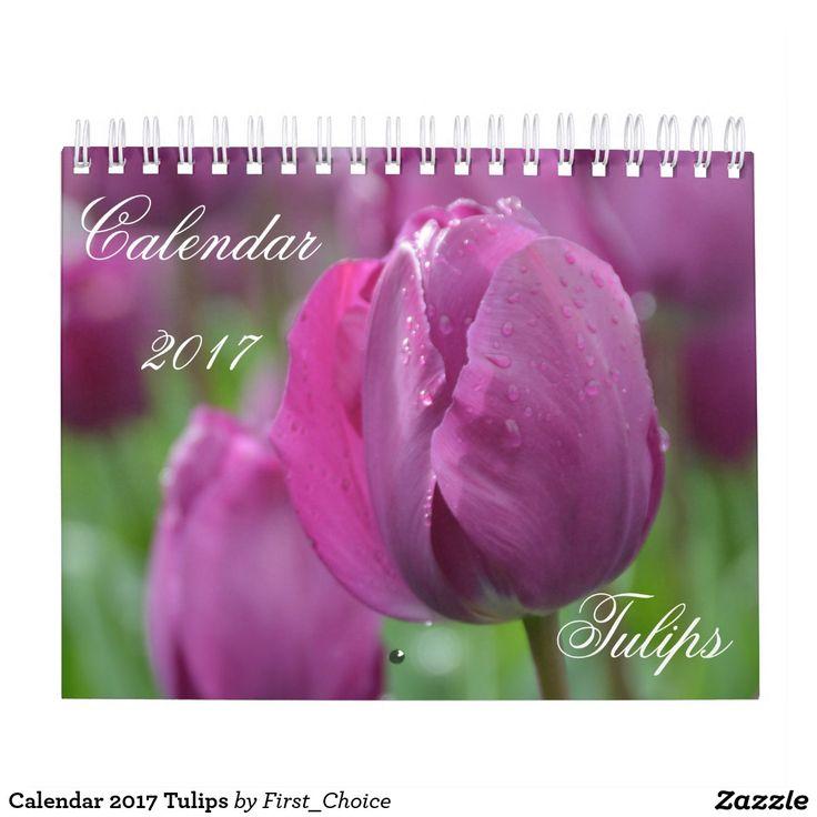 Calendar 2017 Tulips